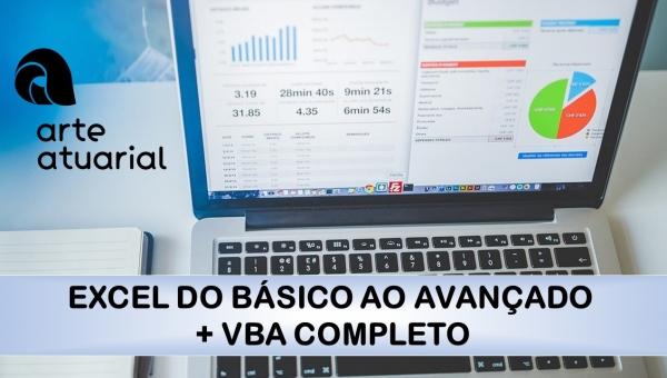 EXCEL DO BÁSICO AO AVANÇADO + VBA COMPLETO